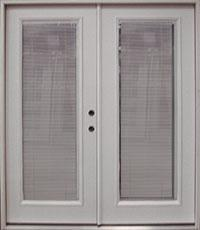 Charming Double Pane French Door W/Internal Miniblind